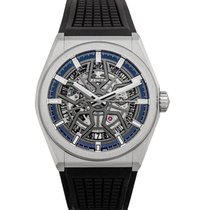 Zenith Defy Classic Mens Watch Skeleton/Rubber 41mm - 95.900