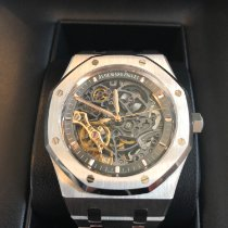 Audemars Piguet Royal Oak Double Balance Wheel Openworked Steel 41mm Transparent No numerals United Kingdom, Stockport