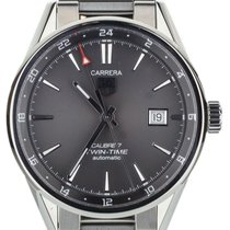 TAG Heuer Carrera Calibre 7 pre-owned 41mm Grey Date Steel