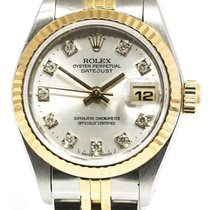 Rolex Lady-Datejust pre-owned 26mm Silver Date Gold/Steel