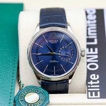 Rolex Fehérarany Automata Kék Számjegyek nélkül 39mm új Cellini Date
