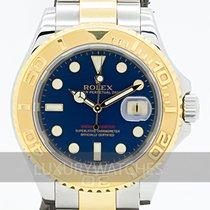 Rolex Yacht-Master 40 подержанные 40mm Синий Золото/Сталь