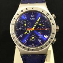 Swatch Aluminium Quarz Blau 40mm gebraucht