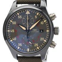 IWC Pilot Chronograph Top Gun Miramar pre-owned 44mm Grey Chronograph Date Leather