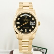 Rolex Day Date 118208 18k Gold 36mm  Diamond Dial Box & Papers