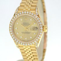 Rolex Datejust 69138 Womens 18K Yellow Gold Automatic Watch...