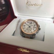 Cartier Calibre de Cartier Chronograph Gold/Stahl 42mm Silber Römisch Deutschland, Plankstadt