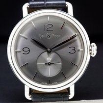 Bell & Ross pre-owned Manual winding 41mm Silver Sapphire Glass 5 ATM