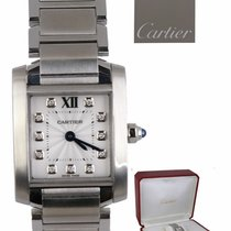 Cartier Tank Française Steel 25.4mm White Roman numerals United States of America, New York, Smithtown