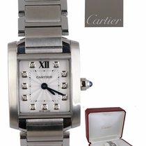 Cartier Tank Française Steel 25.4mm White Roman numerals