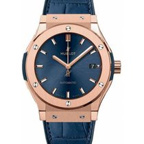 Hublot Red gold Automatic Blue No numerals 45mm new Classic Fusion Blue