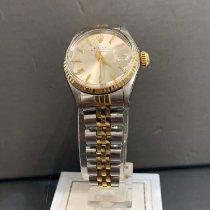 Rolex Oyster Perpetual Lady Date Or/Acier 26mm Argent Sans chiffres France, Menton