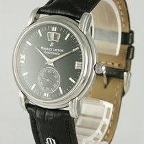 Maurice Lacroix Masterpiece pre-owned 37mm Black Date Leather