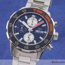 IWC Aquatimer Chronograph Otel 45.5mm Albastru