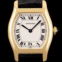 Cartier Tortue Oro amarillo 22mm Plata Romanos