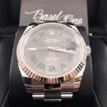 Rolex Datejust Or/Acier 41mm Gris Sans chiffres