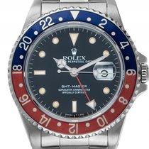Rolex GMT Master rot blau Pepsi Tritium Stahl Automatik...