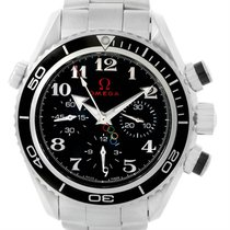 Omega Seamaster Planet Ocean Chronograph Steel 37.5mm Black Arabic numerals
