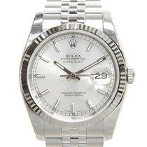 勞力士 Datejust White Gold And Steel Silver Automatic 116234SV