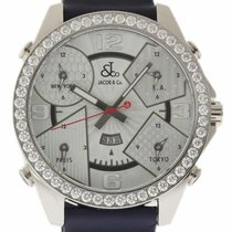 Jacob & Co. Five Time Zone Stahl 47mm Silber Arabisch