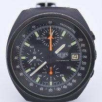Heuer vintage chronograph pvd case ref 510-501  Lemania Pasadena