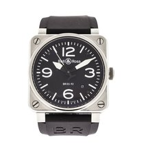 Bell & Ross BR 03-92 Steel pre-owned 42mm Black Date Rubber