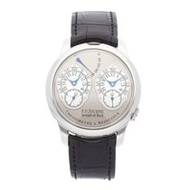 F.P.Journe Chronometre à Resonance Platin 40mm Grau Arabisch