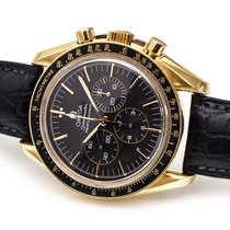Omega Oro amarillo Cuerda manual Negro Sin cifras 42mm usados Speedmaster Professional Moonwatch