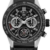 TAG Heuer Carrera Heuer-02T Titanium 45mm Black No numerals