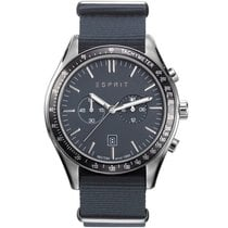 Esprit Steel 44mm Quartz ES108241008 new