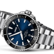 Oris Aquis Date Steel 43.5mm Blue No numerals United States of America, Pennsylvania, Uniontown