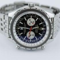Breitling Chronomatic Chronograph Black Dial On Bracelet A41360