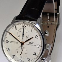 IWC 3714 Portuguese Chronograph Mens Steel Automatic Watch...