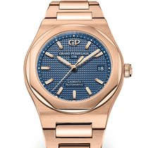 Girard Perregaux Laureato Rose gold 38mm Blue No numerals