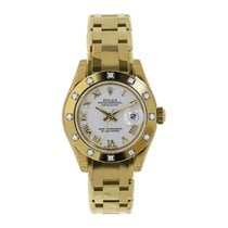Rolex Lady-Datejust Pearlmaster Yellow gold 29mm White Roman numerals United States of America, New York, New York