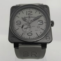 Bell & Ross BR 01-97 Réserve de Marche pre-owned 46mm Grey Date Rubber