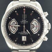 TAG Heuer Grand Carrera tweedehands 43mm Zwart Chronograaf Datum Tachymeter Staal