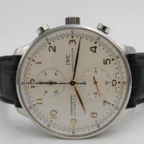 IWC Portuguese Chronograph Acciaio Argento Arabo Italia, Aversa