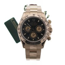Rolex Red gold Automatic Black No numerals 40mm pre-owned Daytona