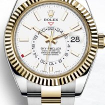 Rolex Sky-Dweller Acero y oro 42mm Sin cifras