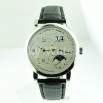 A. Lange & Söhne Platinum Manual winding Silver Roman numerals 38.5mm pre-owned Lange 1
