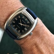 Longines Record pre-owned 46mm Blue Textile