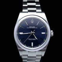 Rolex Oyster Perpetual 39 Acero 39mm Azul Sin cifras