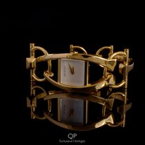 Gucci Or jaune 21,5mm Quartz YA123504 nouveau