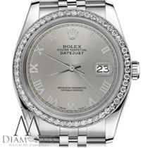 Rolex Lady-Datejust Сталь 26mm Cерый Римские
