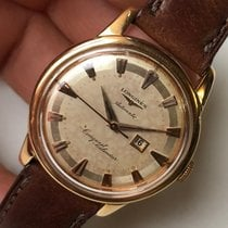 Longines Conquest 9005 18k Pink Gold Automatic 19AS 35mm Vintage