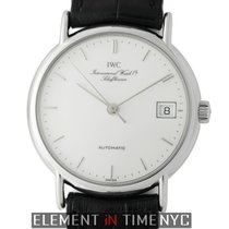 IWC Portofino Collection Stainless Steel White Enamel Dial...
