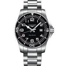 浪琴 8DAYwatch-New L3.740.4.56.6  CONQUEST STAINLESS STEEL BLACK