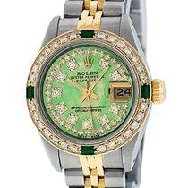 勞力士 Rolex Datejust QS SS 18K Yellow Gold Green MOP Diamond Dial