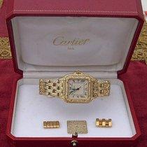 Cartier Panthère Gult gull 26mm Hvit Romersk